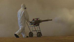 desinfección con deshumidificador industrial para silos